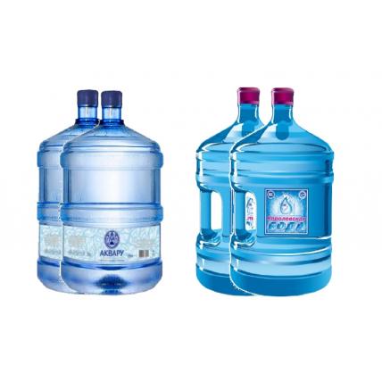 Комплект воды Аквару 19л (2шт)+Королевская 19л (2шт)